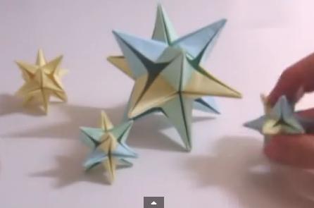 Звезда Омега оригами. Видео схема.  Из Бумаги - Mozilla Firefox