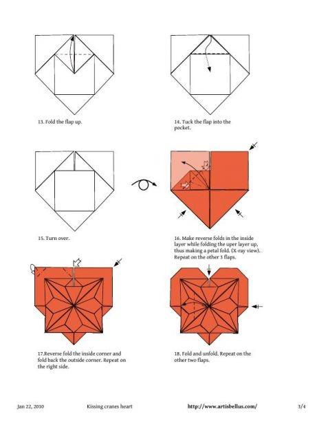Схемы оригами сердечка