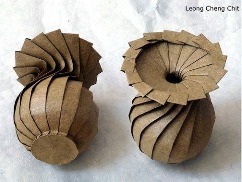 Греческая ваза оригами