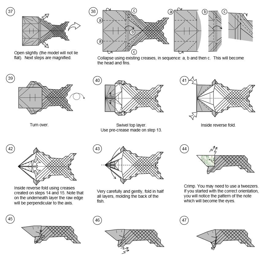 Рыба из денег своими руками пошаговая инструкция 40