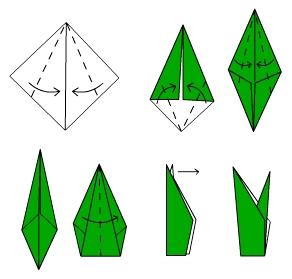 Тюльпаны оригами схема видео