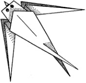 Схем оригами ласточка