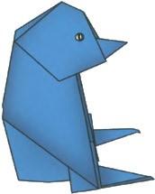 origami-pingvin