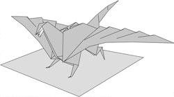 Оригами схема дракона.