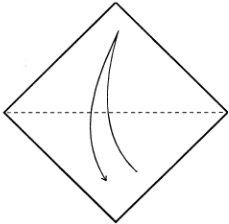 Оригами соловей схема