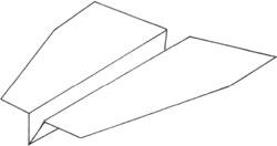 Оригами планеров схемы