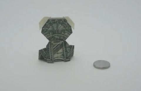 Щенок из доллара
