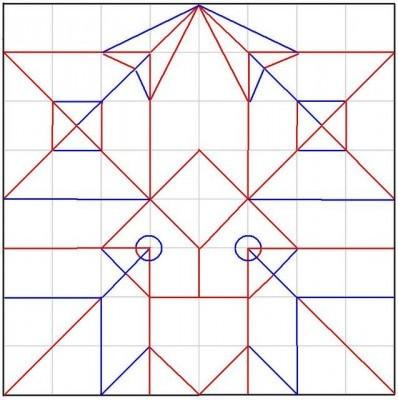 1 квадратный лист бумаги (16