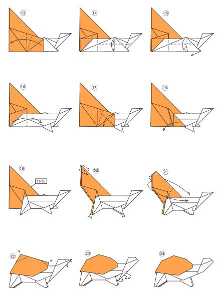 Как из бумаги сделать черепашку