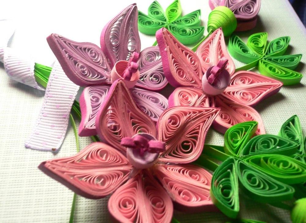 Квиллинг цветы готовые купить доставка цветов в талды-кургане