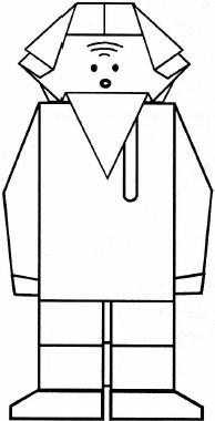 Иванушка оригами схема