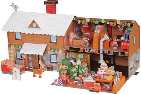 Дом Деда Мороза из бумаги