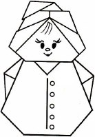 оригами схема гномик