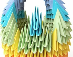 Лебеди из бумаги своими руками оригами схема фото 706