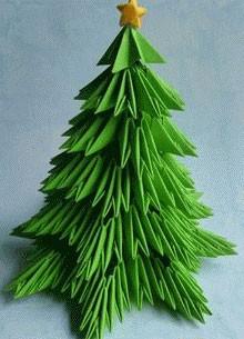 Оригами поделка елка