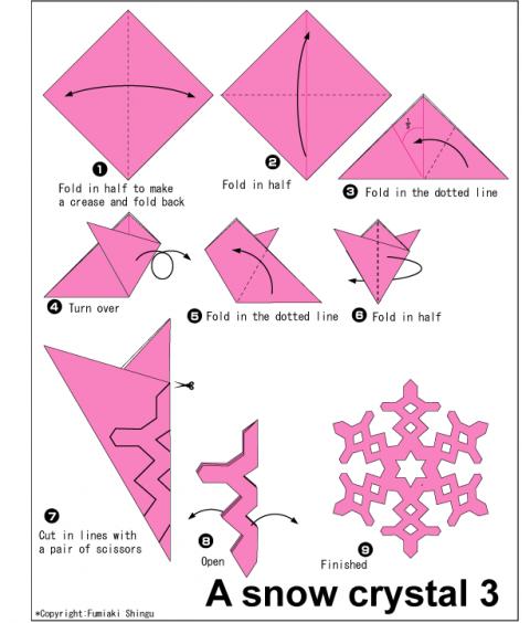 Как вырезать снежинки из бумаги своими руками поэтапно легкие