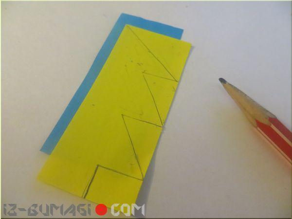 Оригами елочка из бумаги схема для детей фото 477